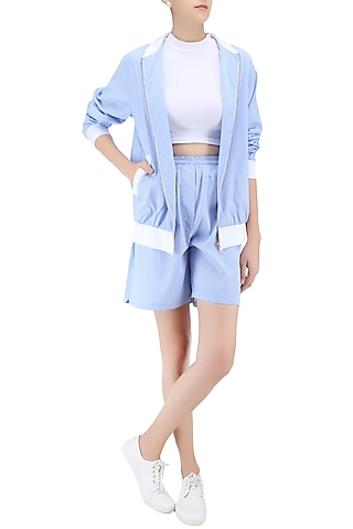 Blue Striped Shorts by Huemn Project