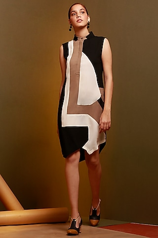 Multi Colored Dress With Patch Work by House of Behram