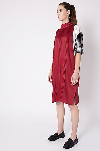 Red Turtleneck Dress by House of Behram