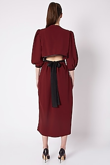 Oxy Red Detailed Dress by House of Behram
