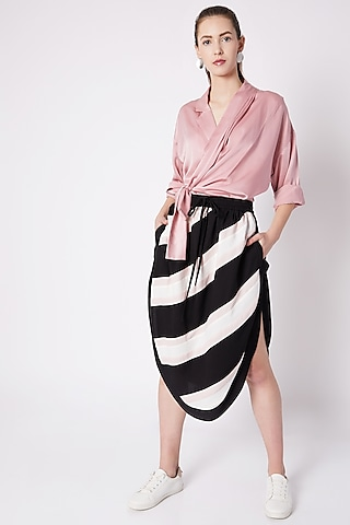 Black & White Athleisure Skirt by House of Behram