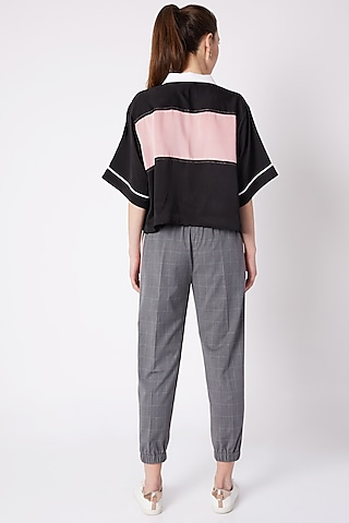Grey Check Trouser Pants by House of Behram