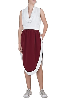Oxy red athleisure skirt by House of Behram