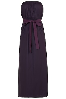 Deep plum tube maxi dress by House of Behram