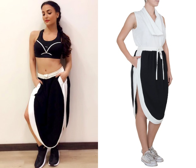 Black athleisure skirt by House of Behram