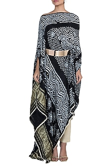 Black Embroidered Tunic With Pants & Belt by House of Milk
