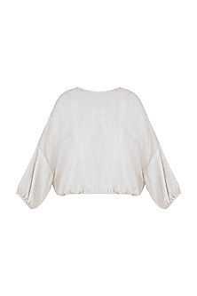 Beige Crinkle Top by House of Milk
