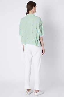 Mint Green Handwoven Shirt by House of Sohn