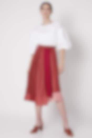 Fuchsia Handwoven Wrap Skirt by House of Sohn