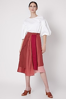 Fuchsia Handwoven Wrap Skirt by House of Sohn