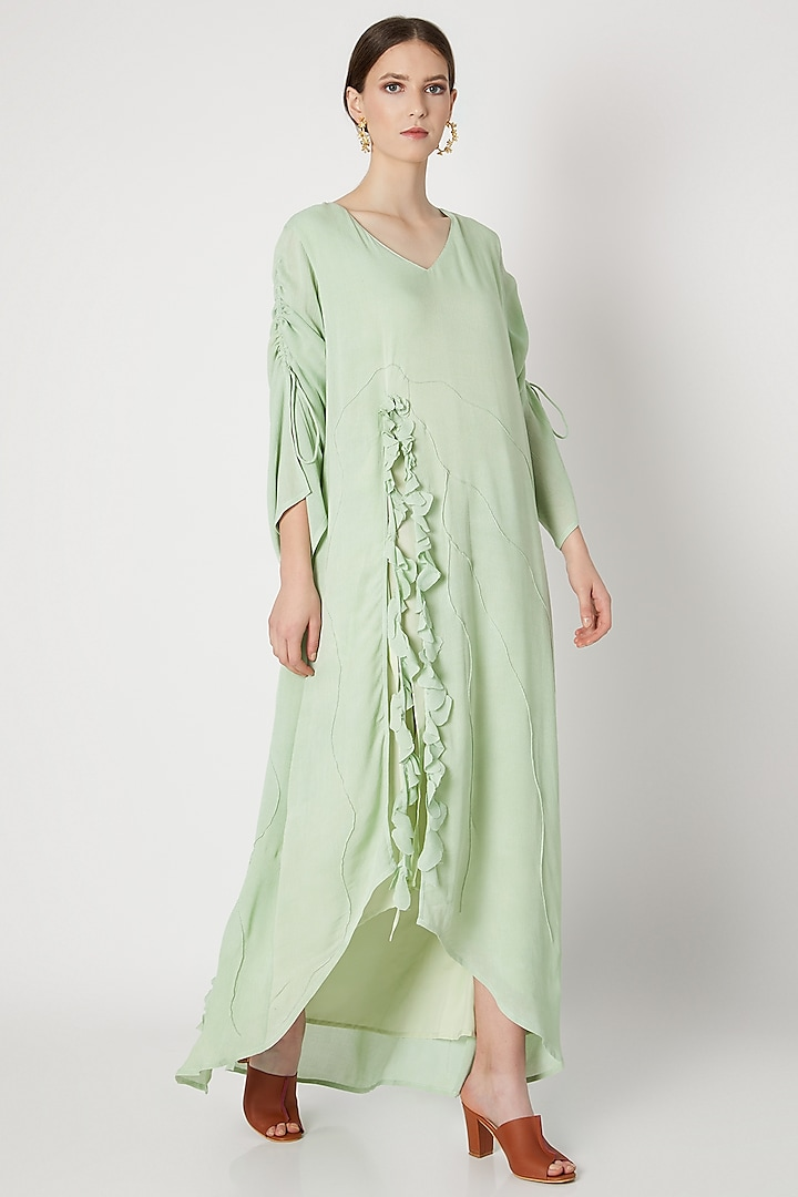 Mint Green Ruffled Dress by House of Sohn