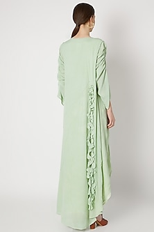 Mint Green Ruffled Dress by House of Sohn