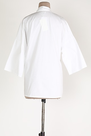 White Poplin Top by House Of Sohn