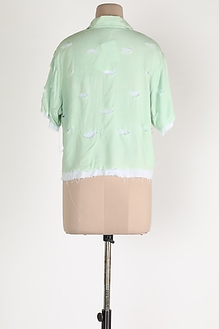 Mint Green Cotton Shirt by House Of Sohn