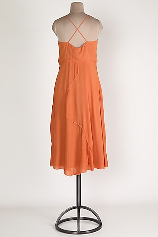 Orange Cotton Maxi Dress by House Of Sohn
