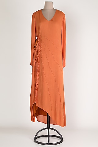 Orange Maxi Dress by House Of Sohn