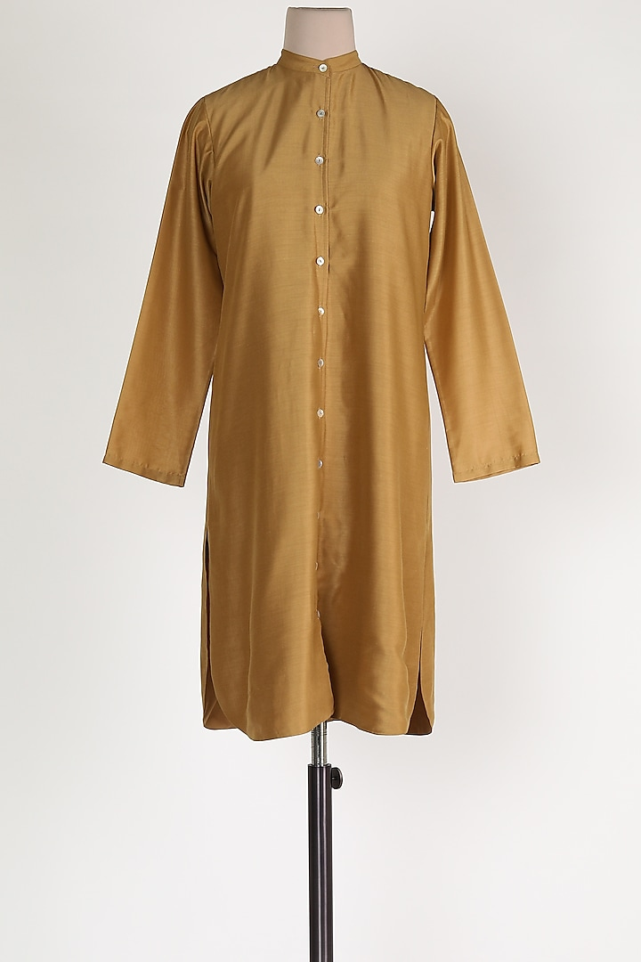 Beige Muslin Shirt by House Of Sohn