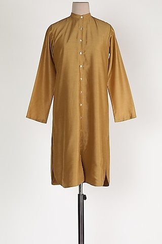 Beige Muslin Shirt by House Of Sohn