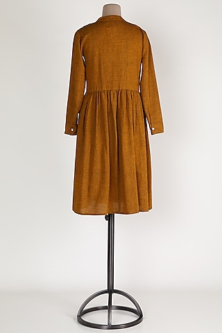 Gold Linen Dress by House Of Sohn