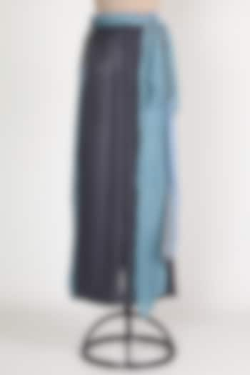 Grey & Blue Feather Pants by House Of Sohn