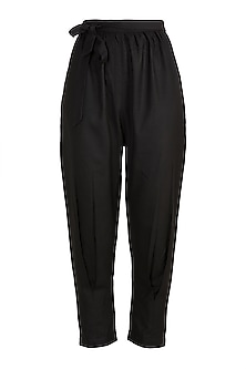 Black Elasticated Pants by House of Sohn