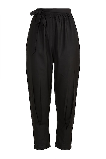 Black Elasticated Pants by House of Sohn