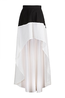 White High-Low Skirt by House of Sohn