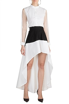 White High-Low Skirt by House of Sohn