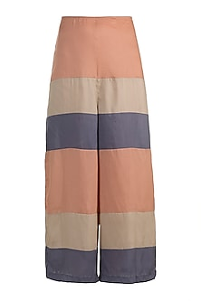 Blush Pink Striped Culotte Pants by House of Sohn