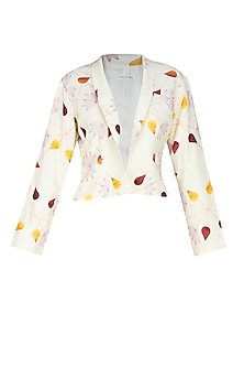 Cream front open droplet blazer by House of Sohn