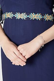 White Finish Floral Bracelet by Heritance Jewellery