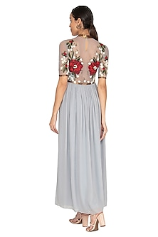 Powder Blue Embroidered Gown by Huemn