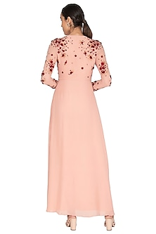 Powder Pink Embroidered Dress by Huemn