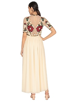 White Embroidered Gown by Huemn