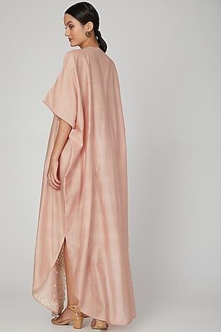 Blush Pink Embroidered Kaftan by Huemn