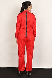 Red Shirt With Cargo Pants by I AM TROUBLE BY KC