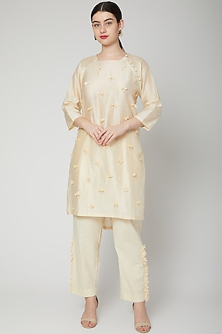 Off White Embroidered Tunic Set by ILK by Shikha and Vinita