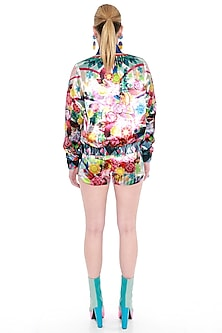 Multi Colored Printed Bomber Jacket by Manish Arora