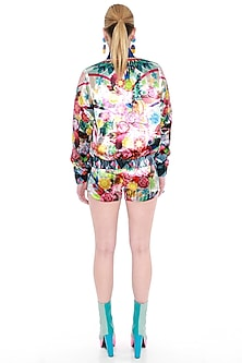 Multi Colored Printed Sporty Shorts by Manish Arora