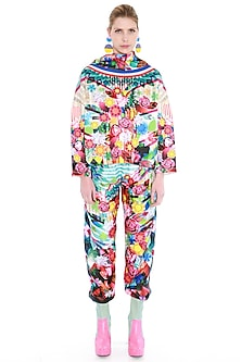 Multi Colored Printed Track Pants by Manish Arora