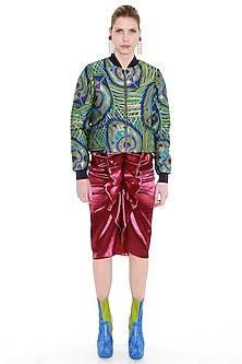 Purple Ruffled Skirt by Manish Arora