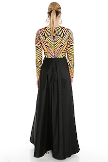 Black Embroidered Maxi Dress by Manish Arora