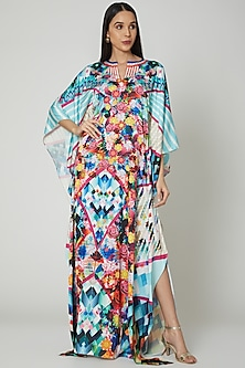 Multi Colored Printed Kaftan Dress by Manish Arora