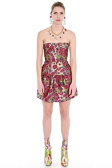 Multi Colored Printed Corset Top by Manish Arora