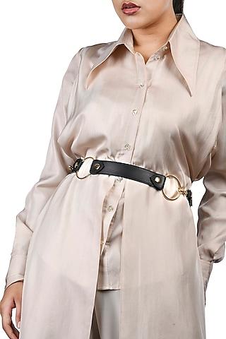 Black & Blue Reversible Waist Belt by Immri