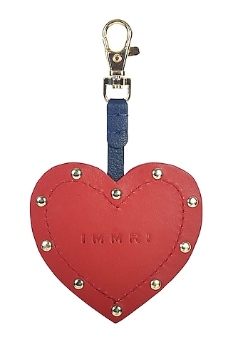 Red Genuine Leather Heart Charm by Immri