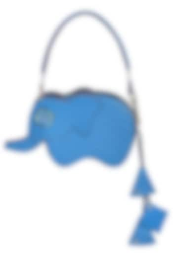Blue Handcrafted Hathi Mini Bag by Immri