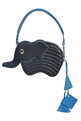 Black Handcrafted Hathi Mini Bag by Immri