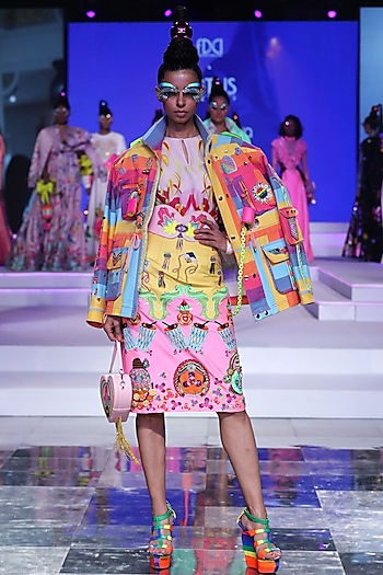 Multi Colored Utility Jacket by Manish Arora
