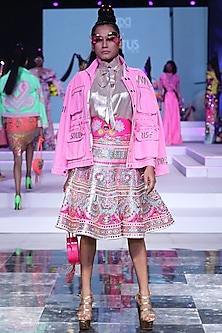 Pink Embroidered Utility Jacket by Manish Arora
